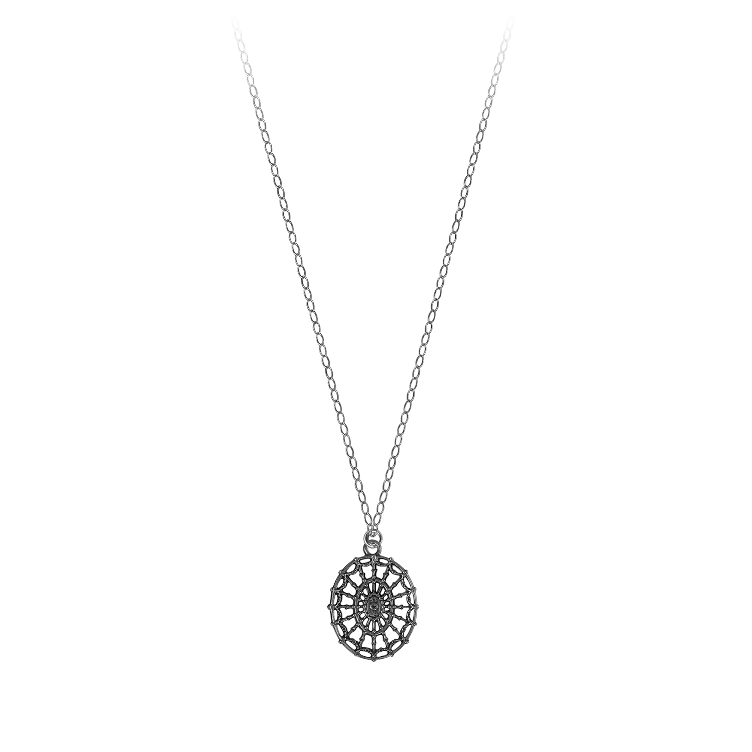 DAR Oval on Light Chain Necklace