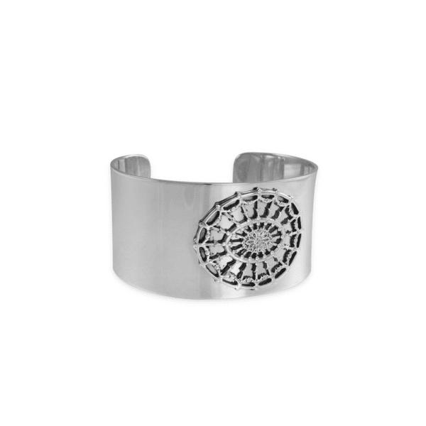 DAR Solid Sterling Silver Oval Cuff