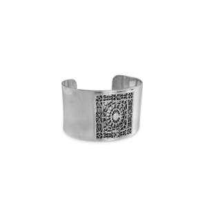 DAR Solid Sterling Silver Rectangle Cuff
