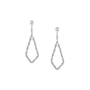 Charleston Rice Bead Long Diamond Earring