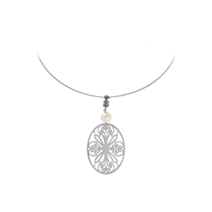 St. Philip's Sterling Omega Necklace