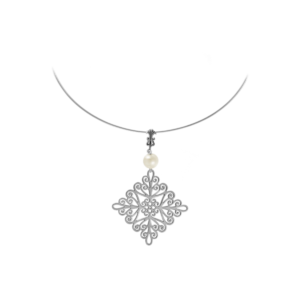 St. Michael's Sterling Omega Necklace