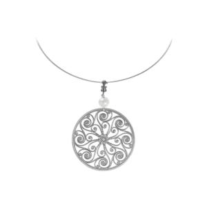 Market Hall Sterling Omega Necklace