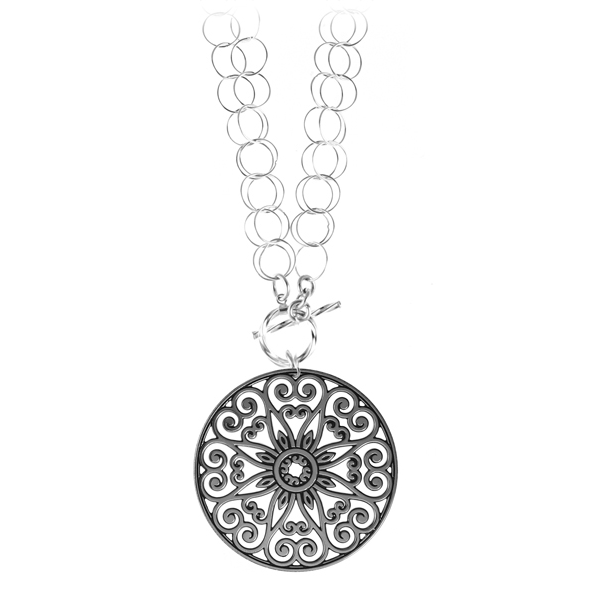 College of Charleston Double Toggle Necklace
