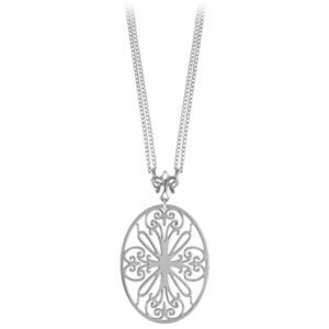 St. Philip's on Double Chain with Angel Fleur de lis Bail