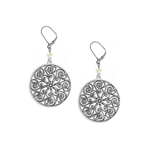 Market Hall Leverback Earrings with Freshwater Pearl
