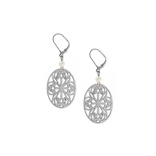 St. Philip's Leverback Earrings with Freshwater Pearl