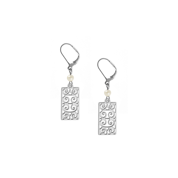 First Scot Leverback Earrings with Freshwater Pearl
