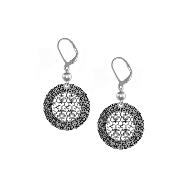 Ezell Leverback Earrings with Sterling Silver Bead