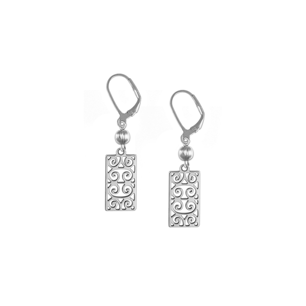 First Scot Leverback Earrings with Sterling Silver Bead