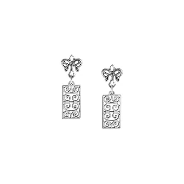 First Scot Post Earrings with angel fleur de lis