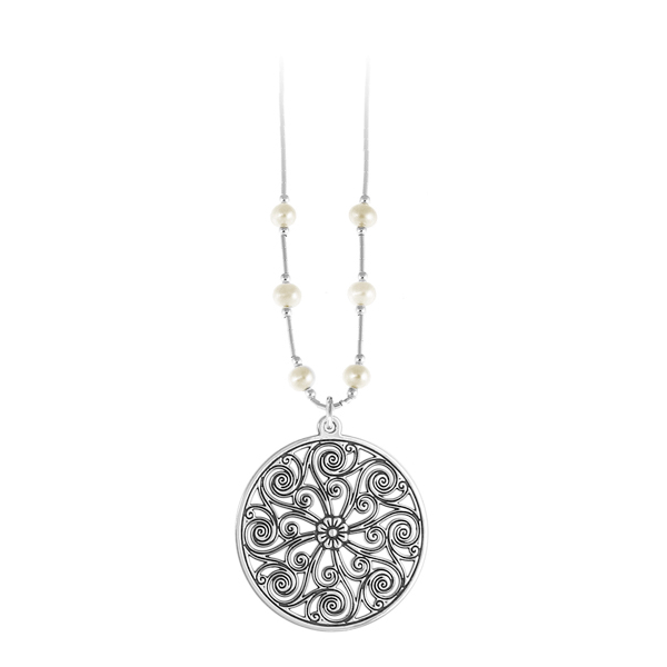 Market Hall Liquid Silver Necklace with Freshwater Pearls