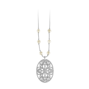 St. Philip's Liquid Silver Necklace with Freshwater Pearls