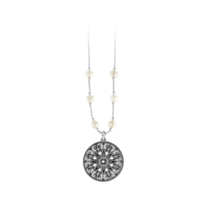 College of Charleston Liquid Silver Necklace with Freshwater Pearls