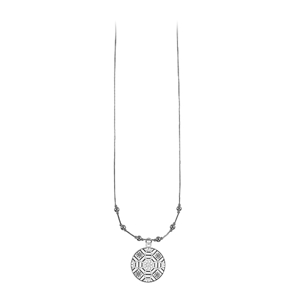 First Baptist Liquid Silver Necklace with Sterling Silver Beads