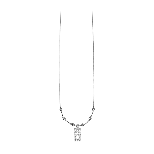 First Scot Liquid Silver Necklace with Sterling Silver Beads