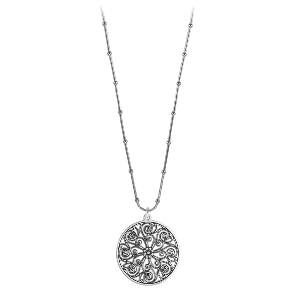Market Hall Liquid Silver Necklace on Bamboo Chain