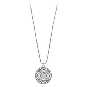 First Baptist Liquid Silver Necklace on Bamboo Chain