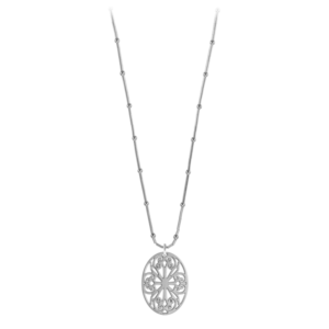 St. Philip's Liquid Silver Necklace on Bamboo Chain