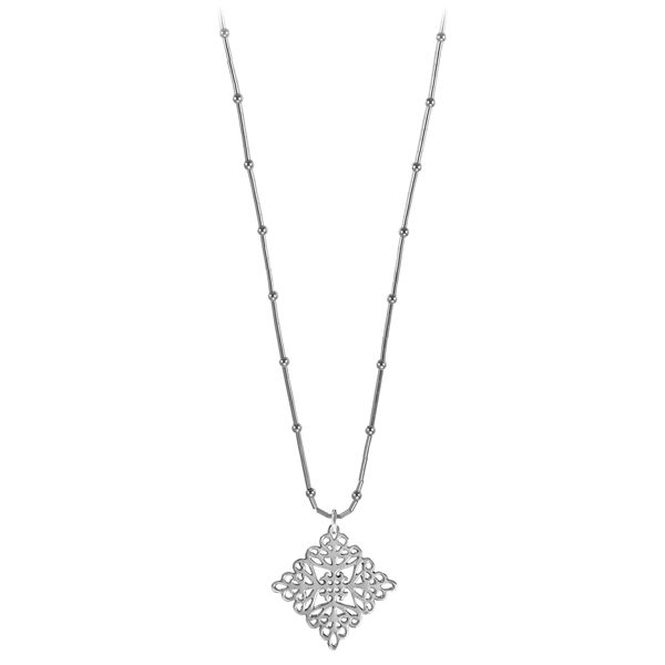 St. Michael's Liquid Silver Necklace on Bamboo Chain