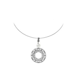 Cooper Bee Sterling Omega Necklace