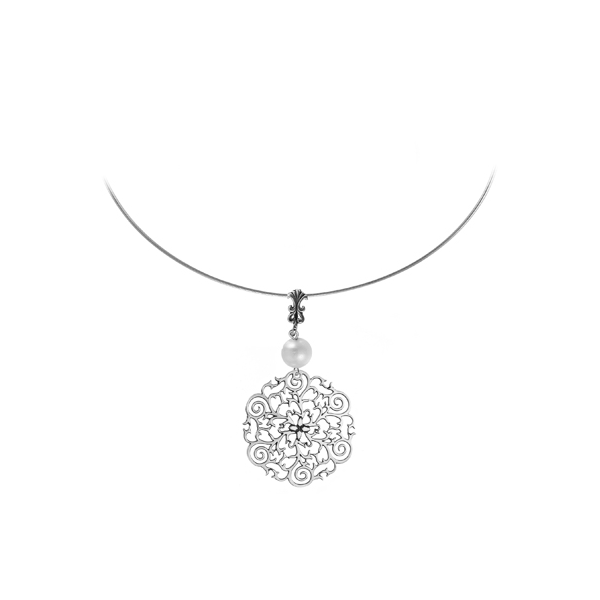 St. Philip's Steeple Sterling Omega Necklace