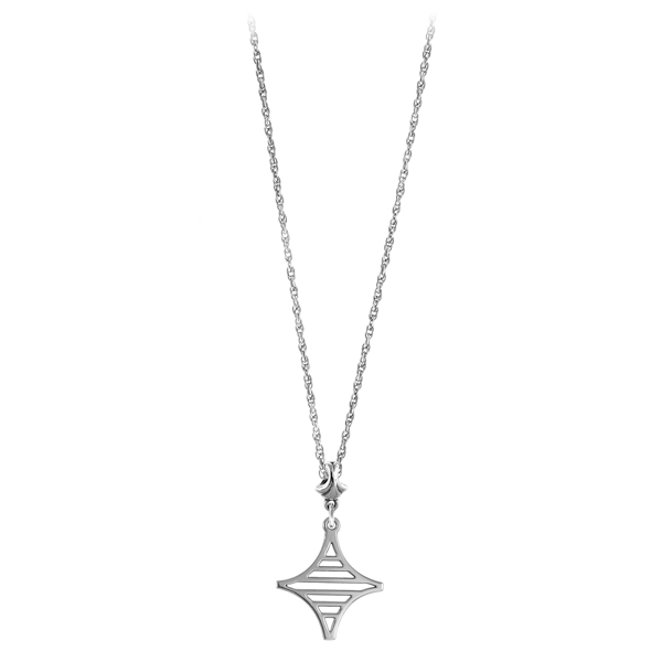 Legare Street Necklace on Light Chain with Fan Bail