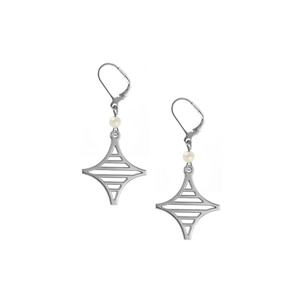 Legare Street Leverback Earrings with Freshwater Pearl