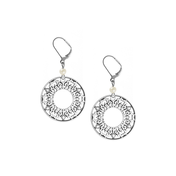 Cooper Bee Leverback Earrings with Freshwater Pearl