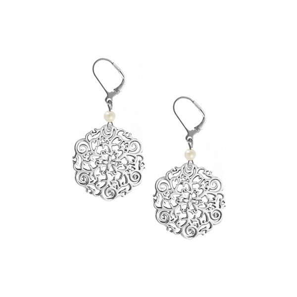 St. Philip's Steeple Leverback Earrings with Freshwater Pearl