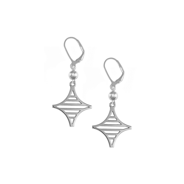 Legare Street Leverback Earrings with Sterling Silver Bead