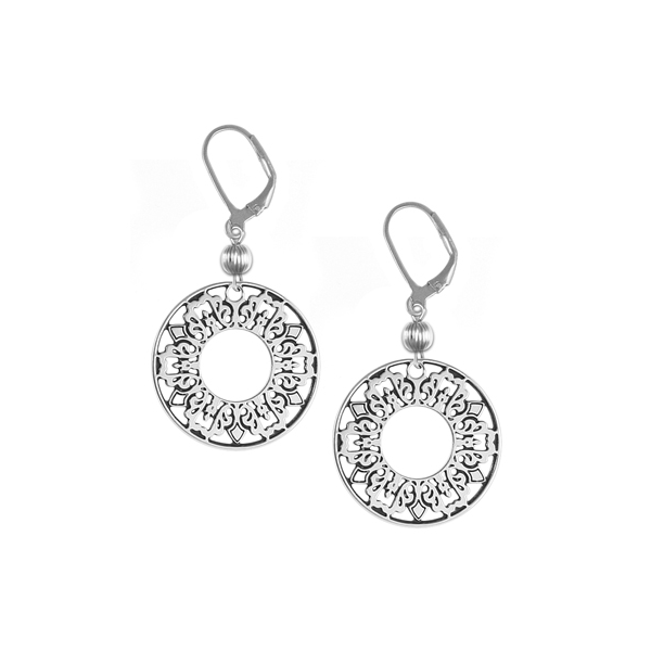 Cooper Bee Leverback Earrings with Sterling Silver Bead