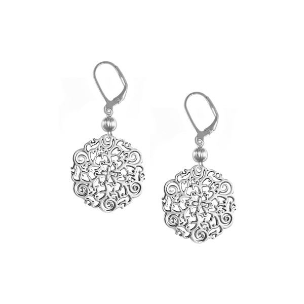 St. Philip's Steeple Leverback Earrings with Sterling Silver Bead