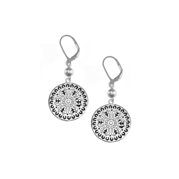 Aiken Rhett Leverback Earrings with Sterling Silver Bead
