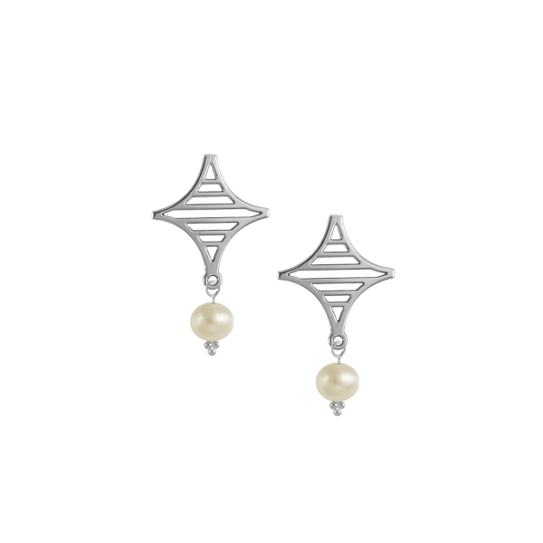 Legare Street Post Earrings with Freshwater Pearl
