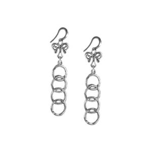 Regency Angel Fleur de lis Shepard's Hook Earring