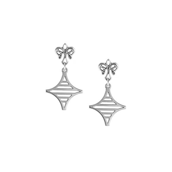Legare Street Post Earrings with angel fleur de lis