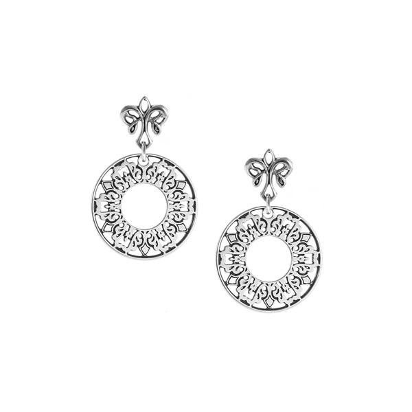 Cooper Bee Post Earrings with angel fleur de lis