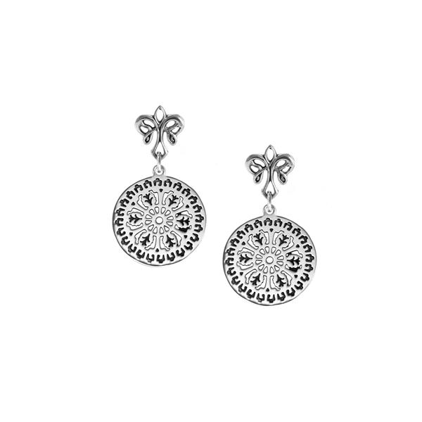 Aiken Rhett Post Earrings with angel fleur de lis