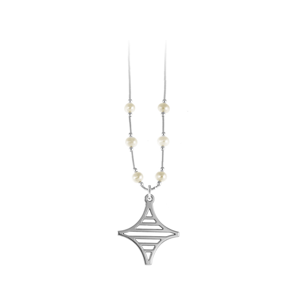Legare Street Liquid Silver Necklace with Freshwater Pearls