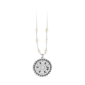 Aiken Rhett Liquid Silver Necklace with Freshwater Pearls