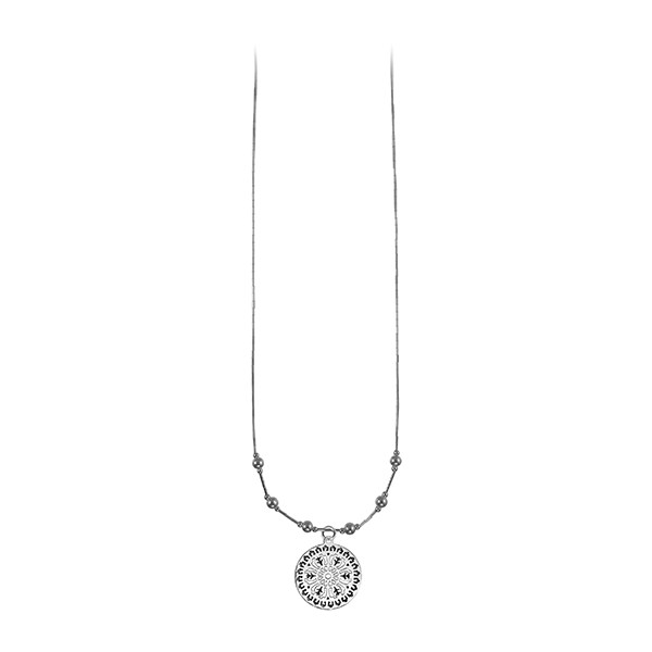 Aiken Rhett Liquid Silver Necklace with Sterling Silver Beads