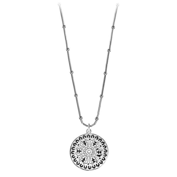 Aiken Rhett Liquid Silver Necklace on Bamboo Chain