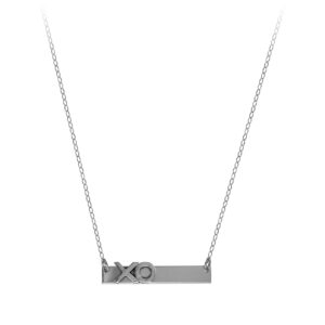 Bar Necklace with XO