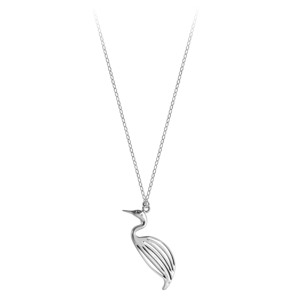 Philip Simmons Egret on Cable Chain Necklace