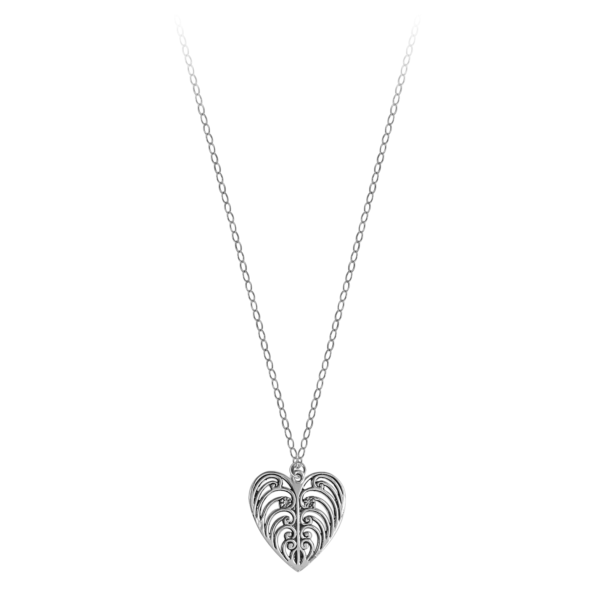 Philip Simmons Heart on Cable Chain Necklace