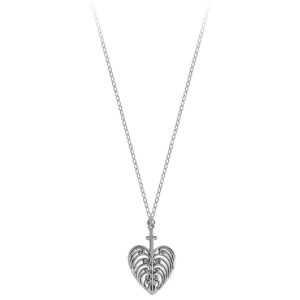 Philip Simmons Heart with Cross on Cable Chain Necklace