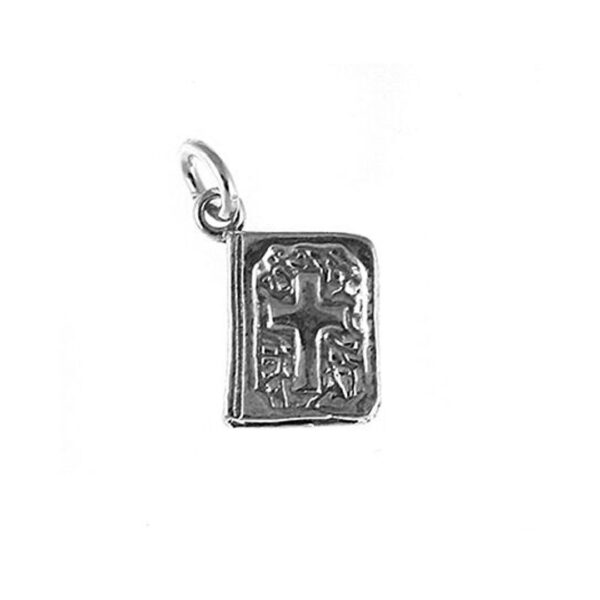 Sterling Silver Bible Charm with Cross