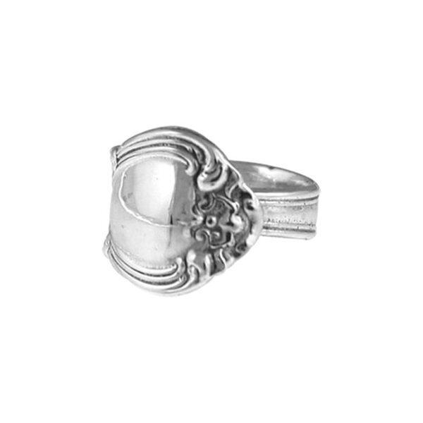 Sterling Silver Salt Spoon Adjustable Ring